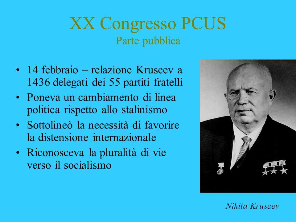 XX Congresso PCUS Parte pubblica