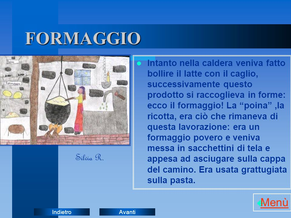 FORMAGGIO Menù Silvia R.