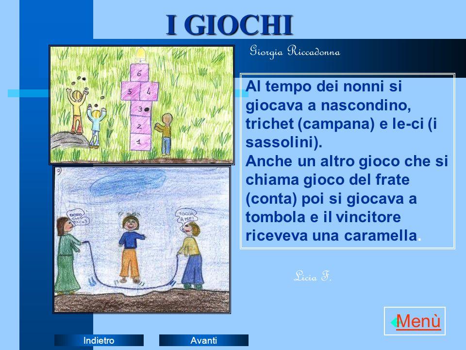 I GIOCHI Menù Giorgia Riccadonna