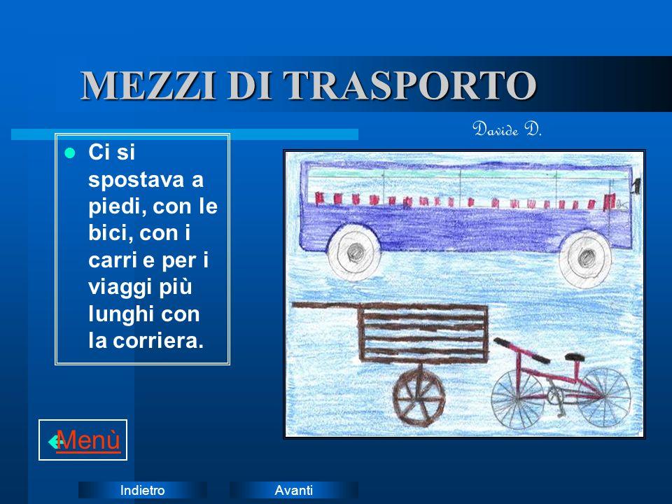 MEZZI DI TRASPORTO Menù Davide D.