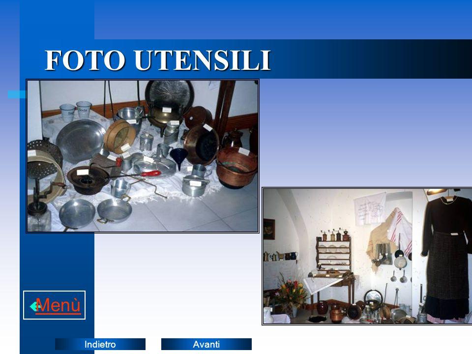 FOTO UTENSILI Menù