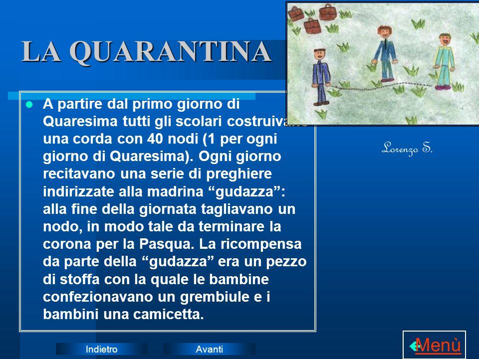 LA QUARANTINA Menù Lorenzo S.