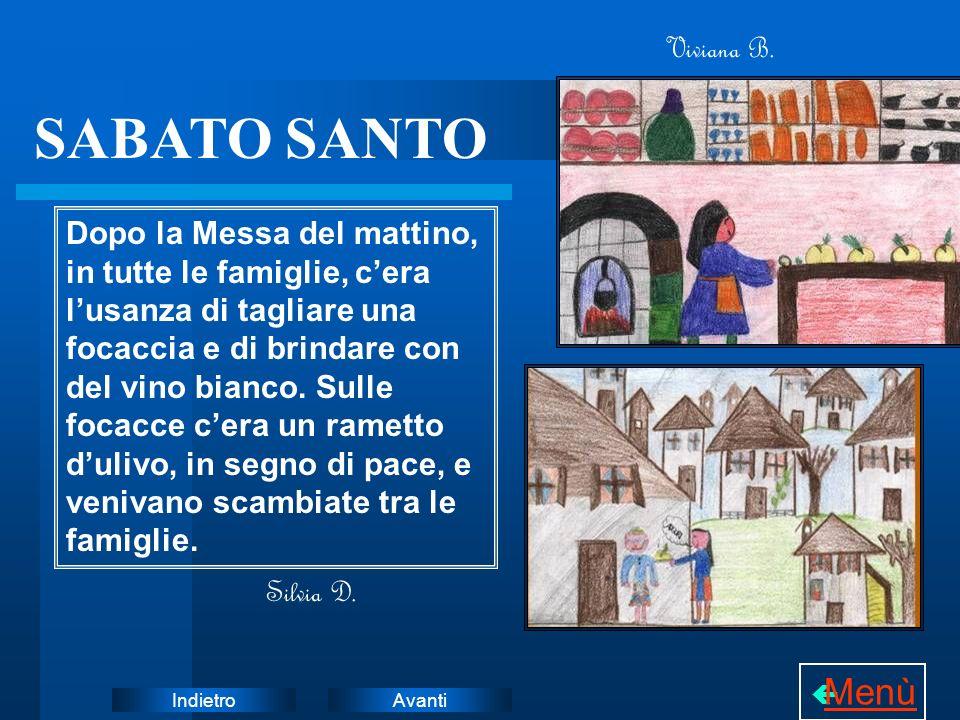 SABATO SANTO Menù Viviana B.