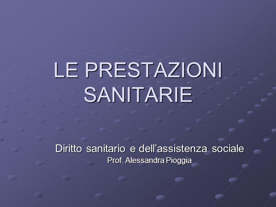 LE PRESTAZIONI SANITARIE