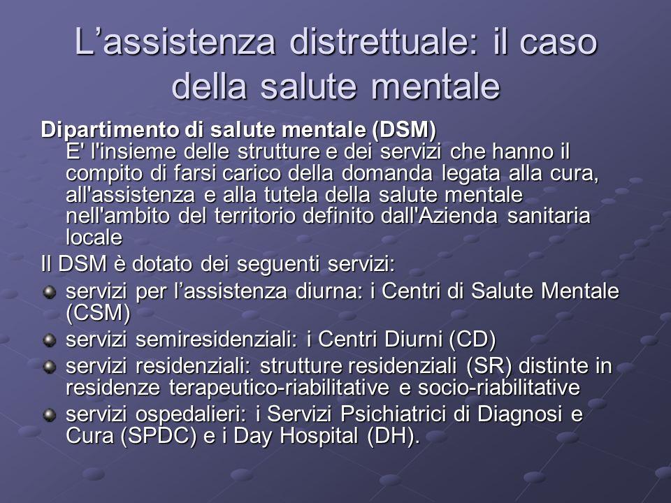 L'assistenza distrettuale: il caso della salute mentale