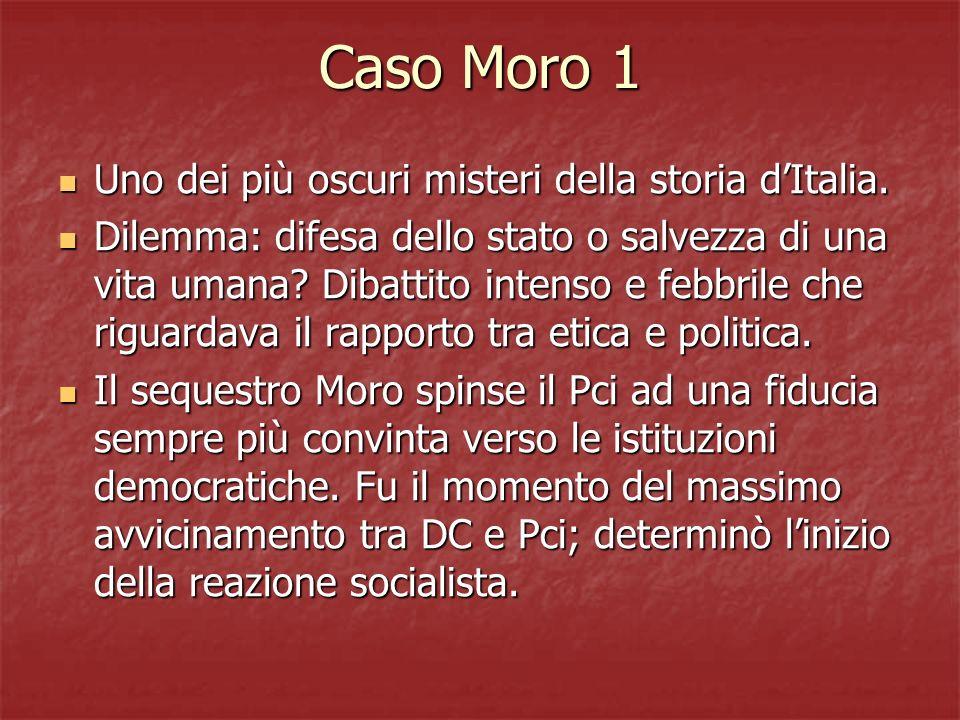 Caso Moro 1 Uno dei più oscuri misteri della storia d'Italia.