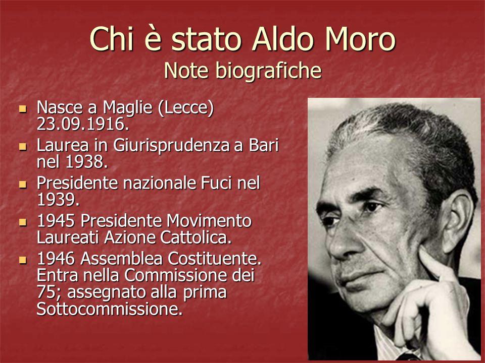 Chi è stato Aldo Moro Note biografiche