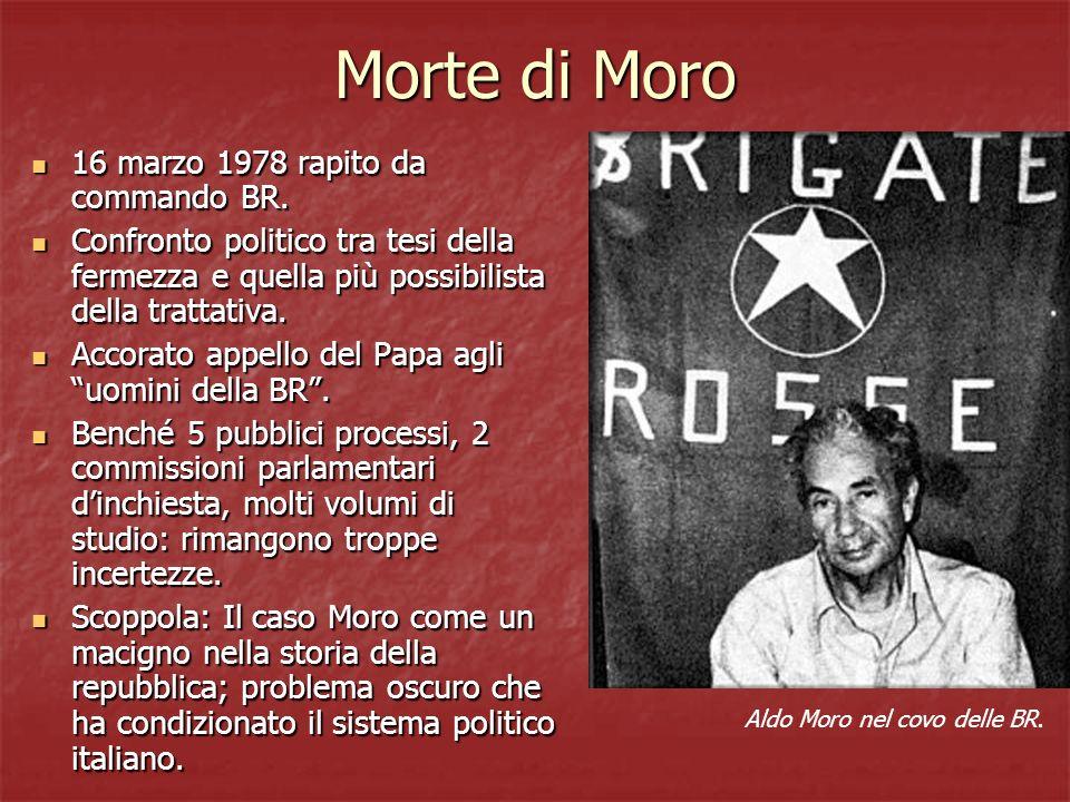 Morte di Moro 16 marzo 1978 rapito da commando BR.