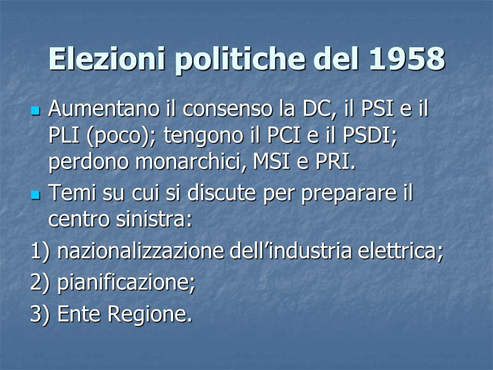 Elezioni politiche del 1958