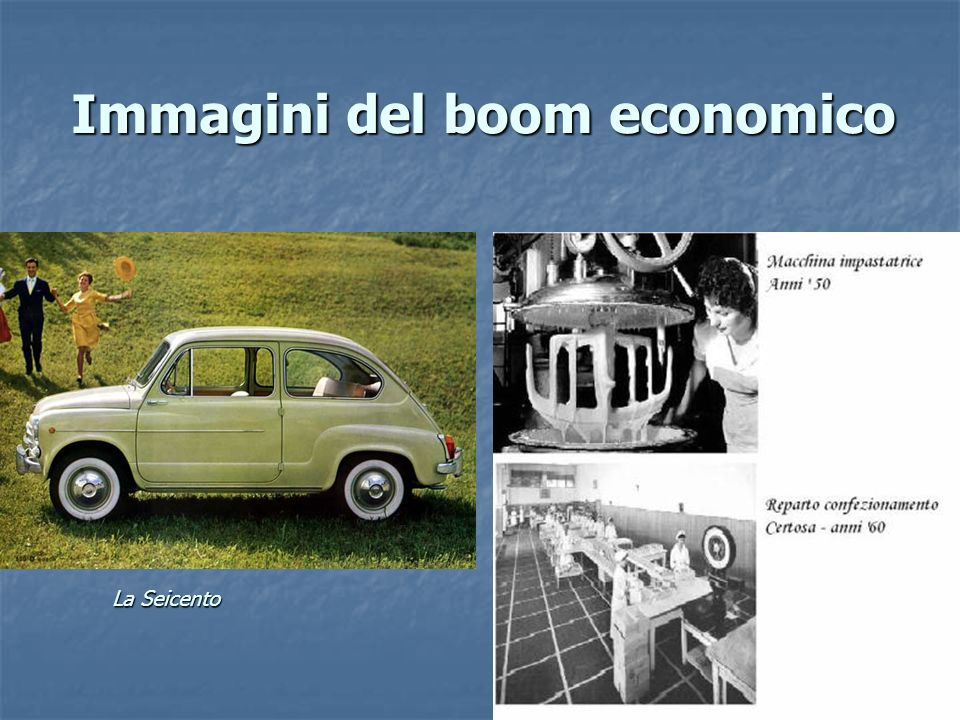 Immagini del boom economico