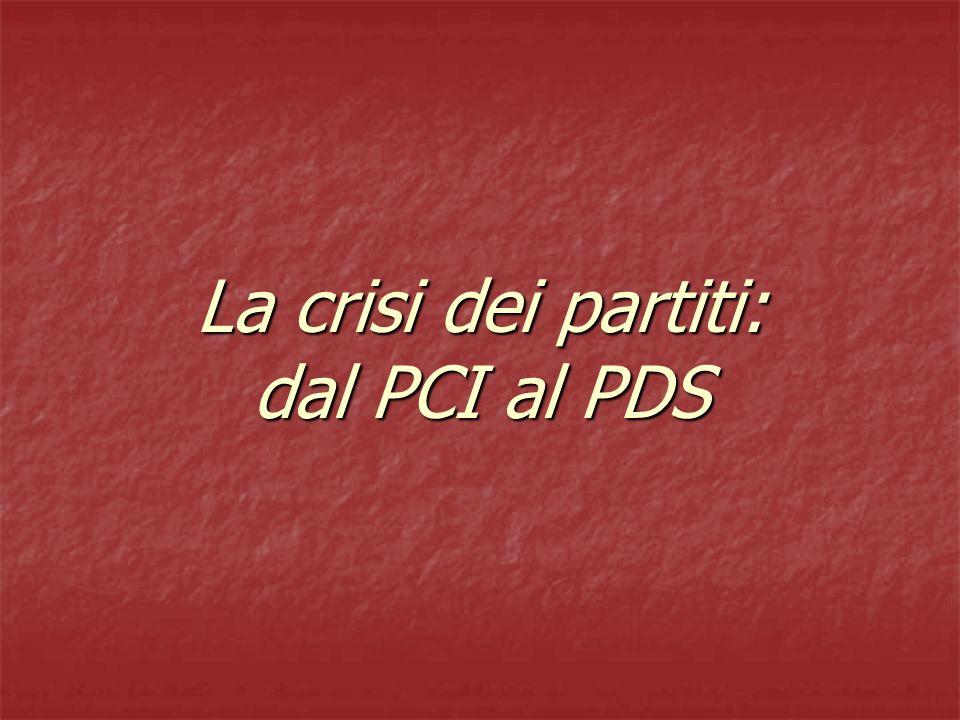 La crisi dei partiti: dal PCI al PDS