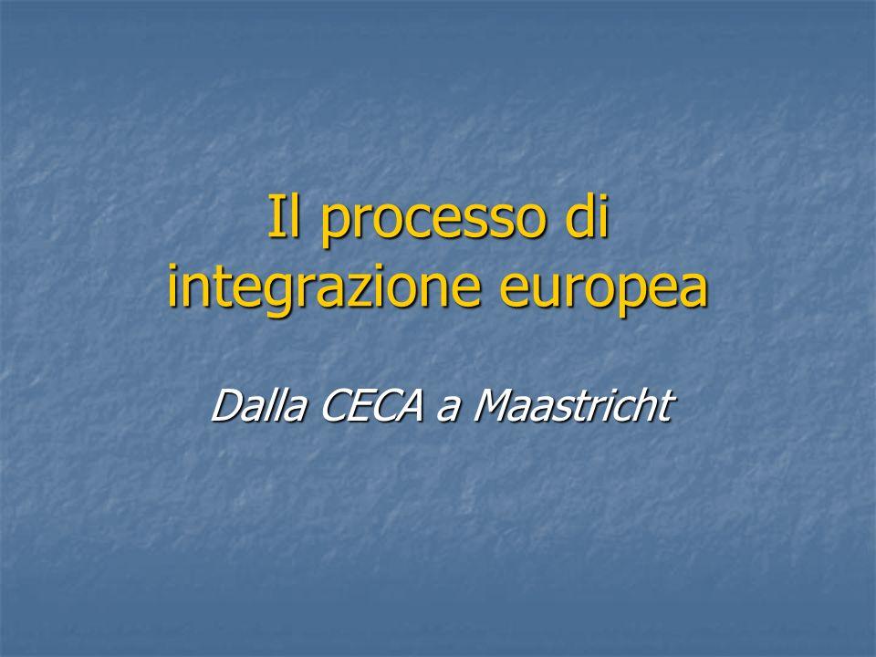 Il processo di integrazione europea