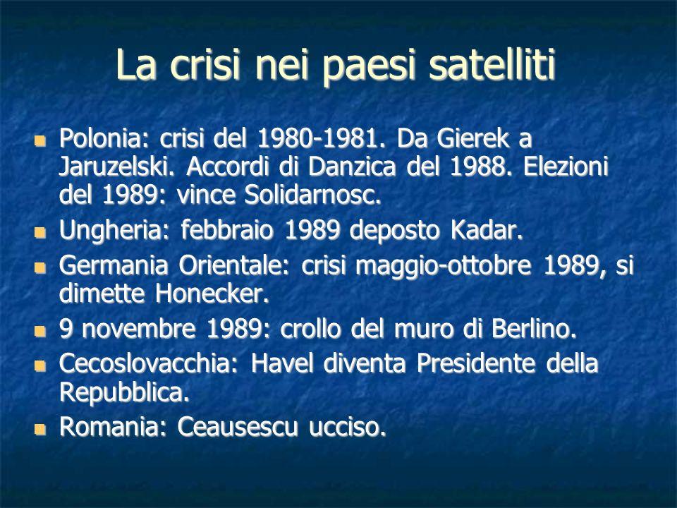 La crisi nei paesi satelliti