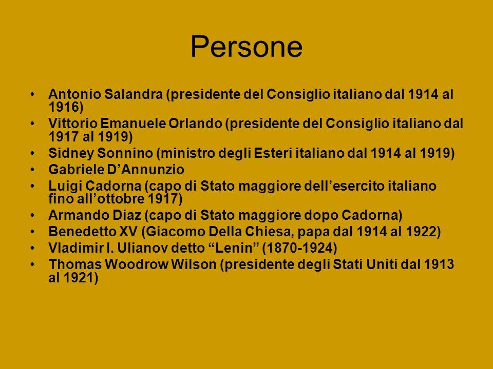PersoneAntonio Salandra (presidente del Consiglio italiano dal 1914 al 1916)