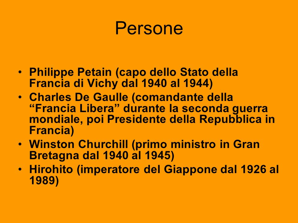 Persone Philippe Petain (capo dello Stato della Francia di Vichy dal 1940 al 1944)