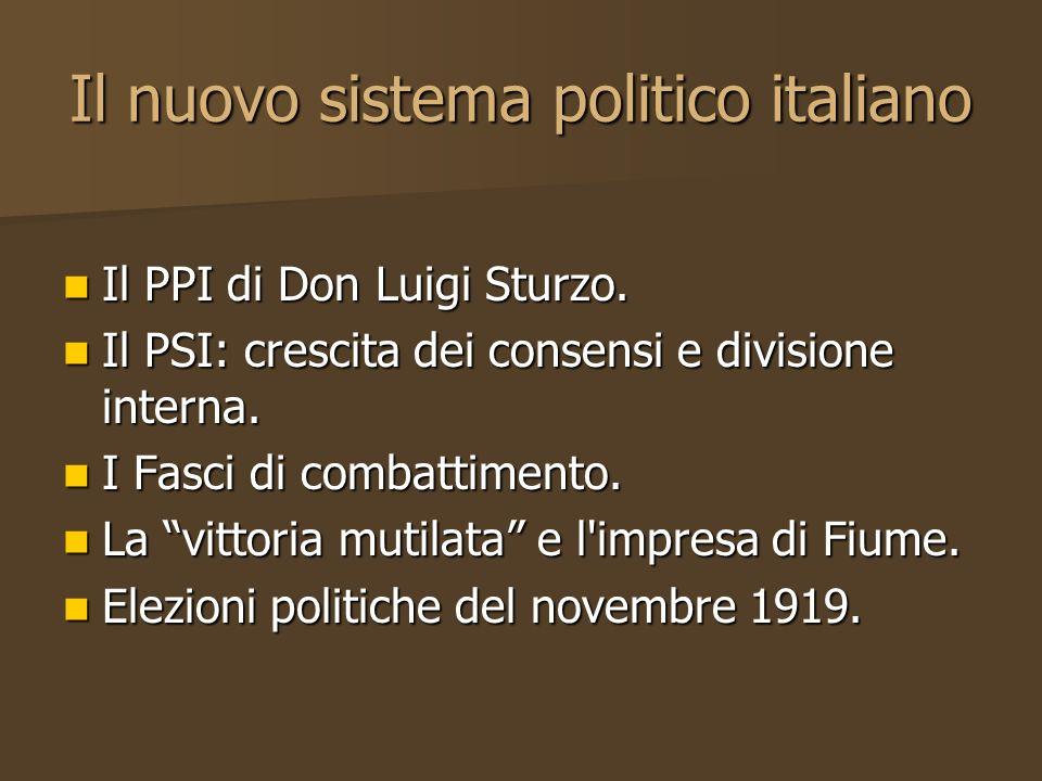 Il nuovo sistema politico italiano