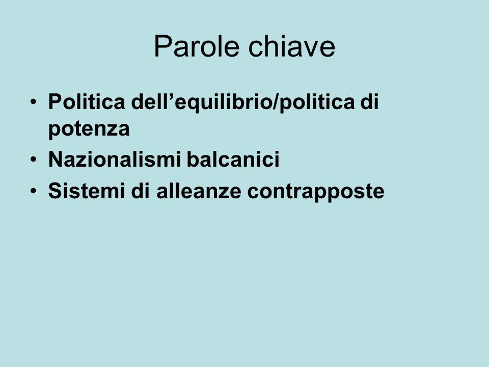 Parole chiave Politica dell'equilibrio/politica di potenza