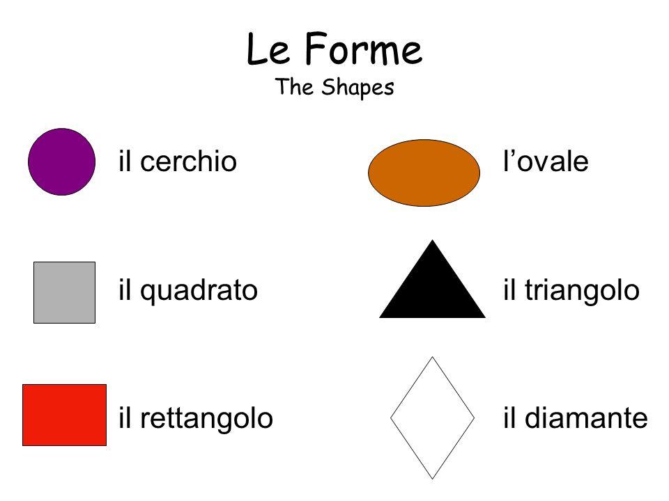 Le Forme The Shapes il cerchio il quadrato il rettangolo l'ovale