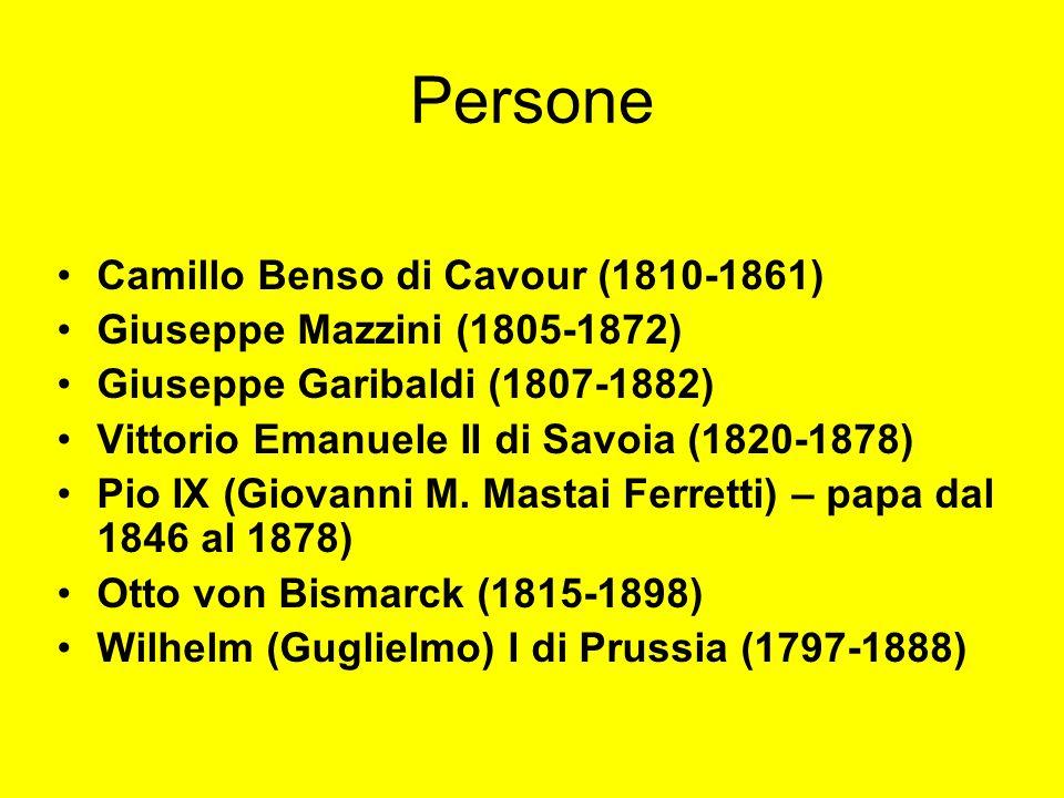 Persone Camillo Benso di Cavour (1810-1861)