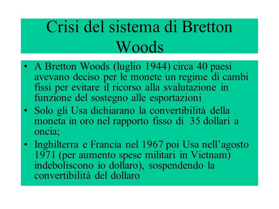 Crisi del sistema di Bretton Woods
