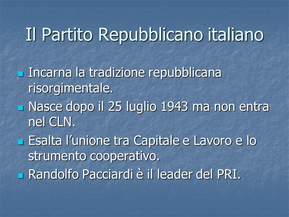 Il Partito Repubblicano italiano