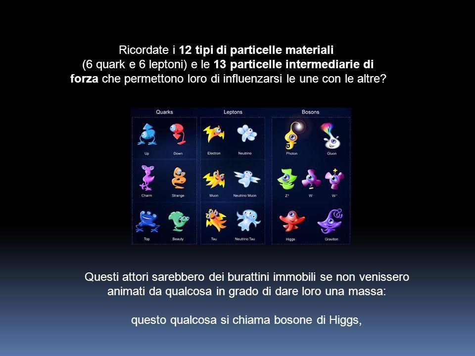 Ricordate i 12 tipi di particelle materiali