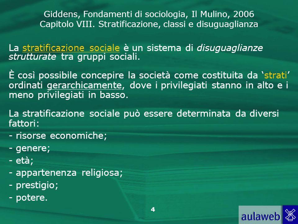 La stratificazione sociale è un sistema di disuguaglianze strutturate tra gruppi sociali.