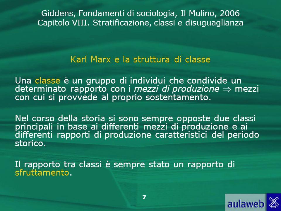 Karl Marx e la struttura di classe