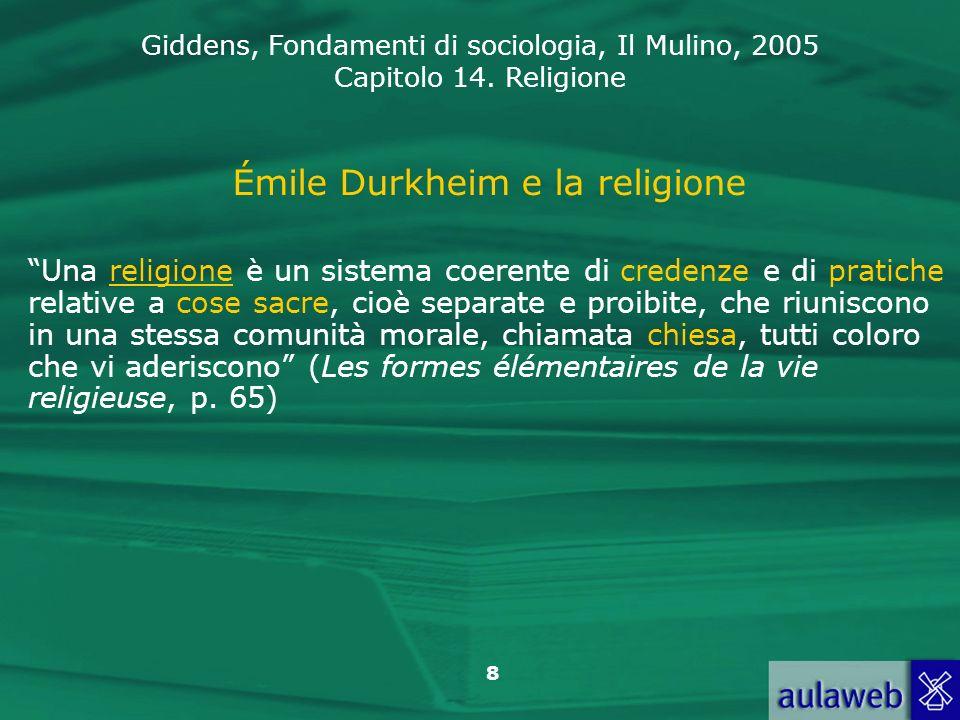 Émile Durkheim e la religione