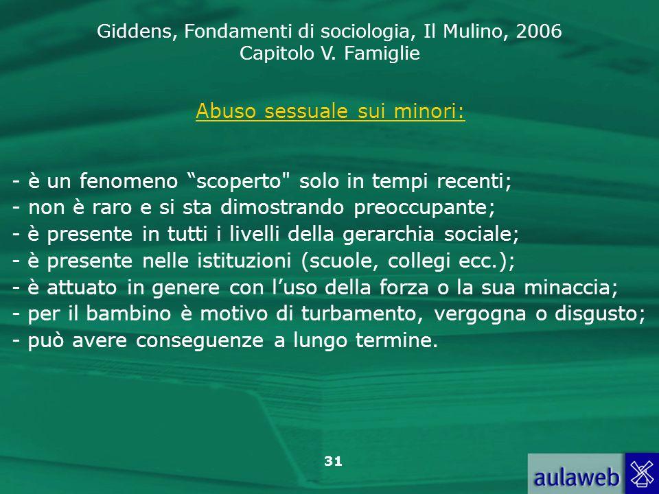 Abuso sessuale sui minori: