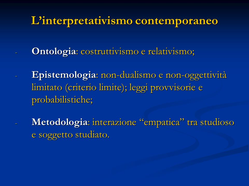 L'interpretativismo contemporaneo