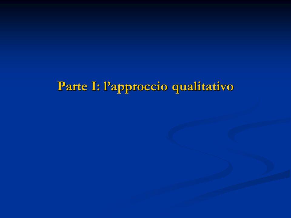 Parte I: l'approccio qualitativo