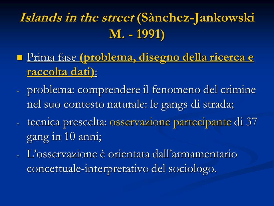Islands in the street (Sànchez-Jankowski M. - 1991)