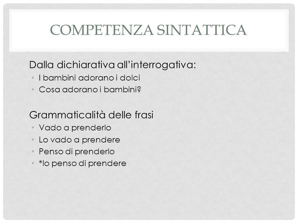 Competenza sintattica