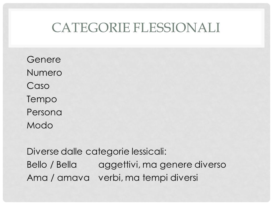 Categorie flessionali
