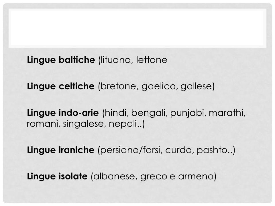 Lingue baltiche (lituano, lettone