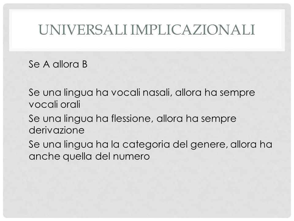 Universali implicazionali