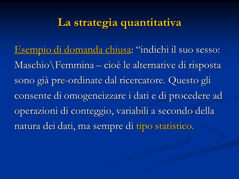 La strategia quantitativa