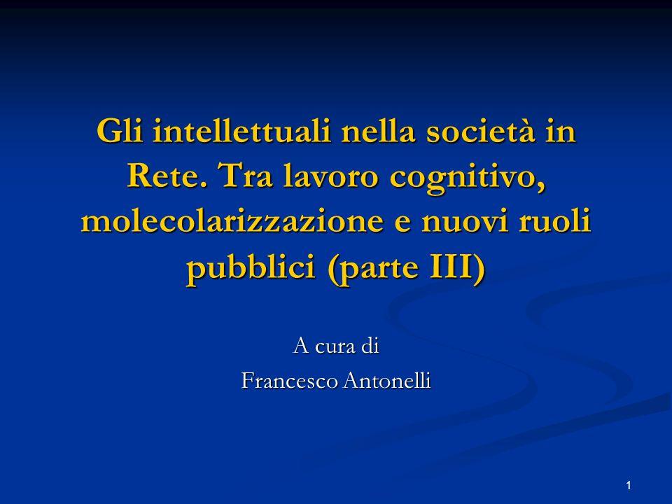 A cura di Francesco Antonelli