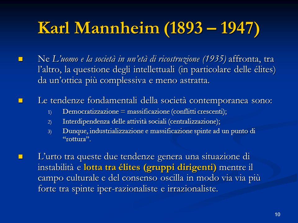 Karl Mannheim (1893 – 1947)