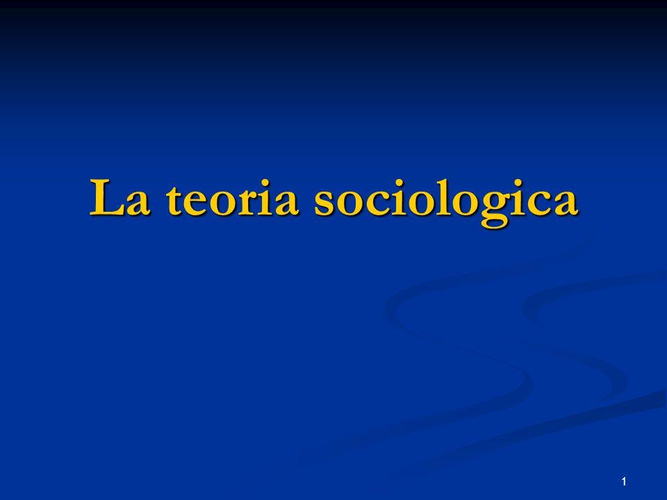 La teoria sociologica