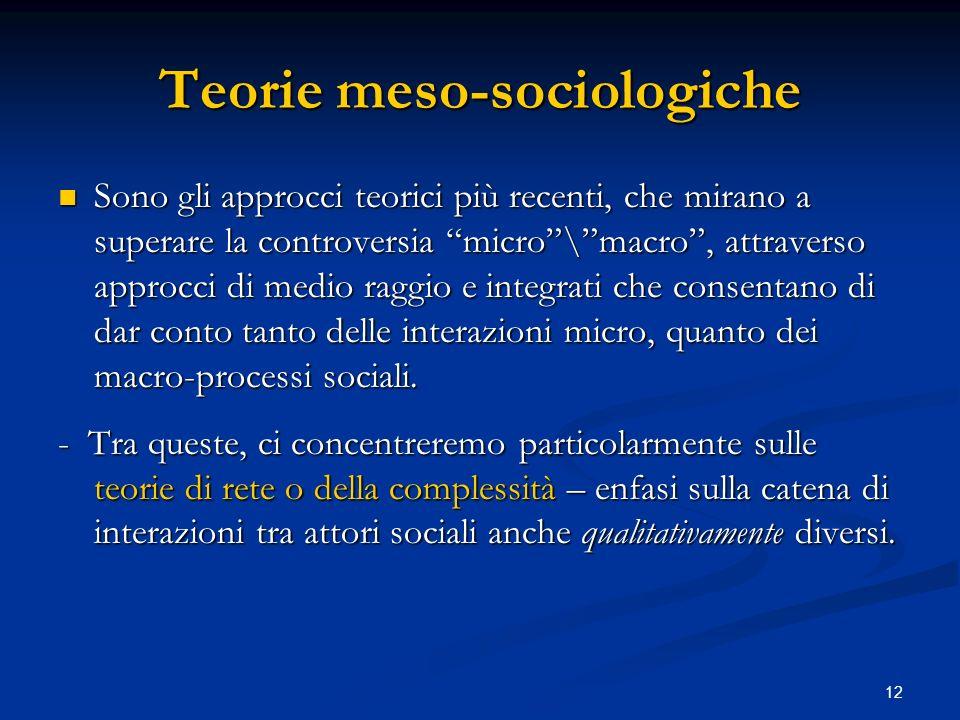 Teorie meso-sociologiche