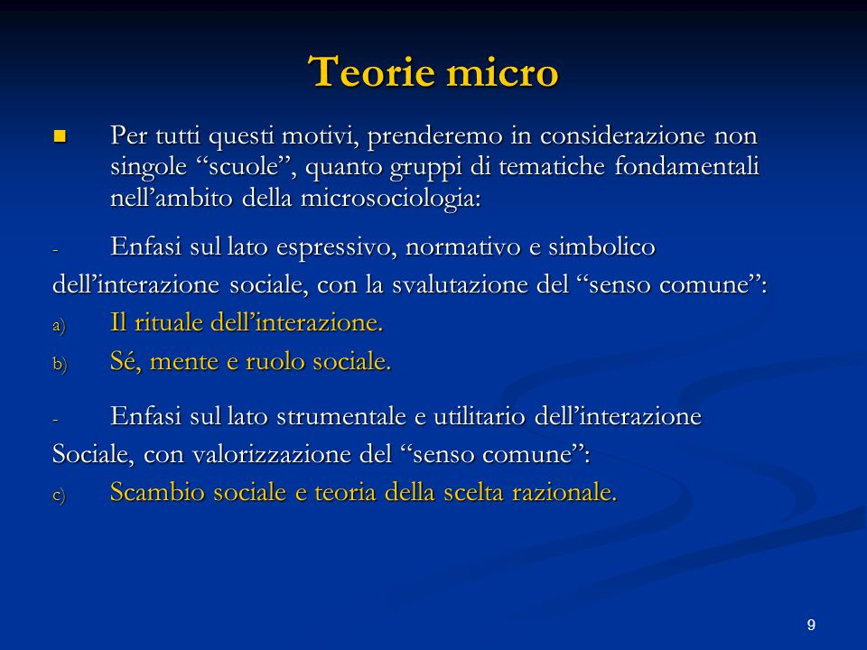 Teorie micro