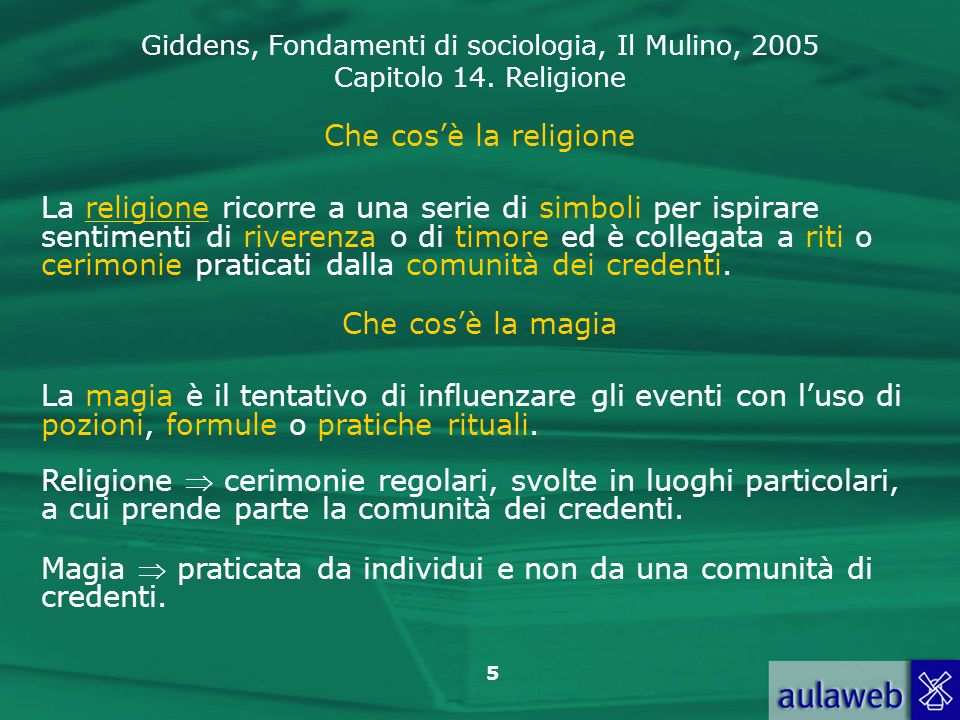 Che cos'è la religione
