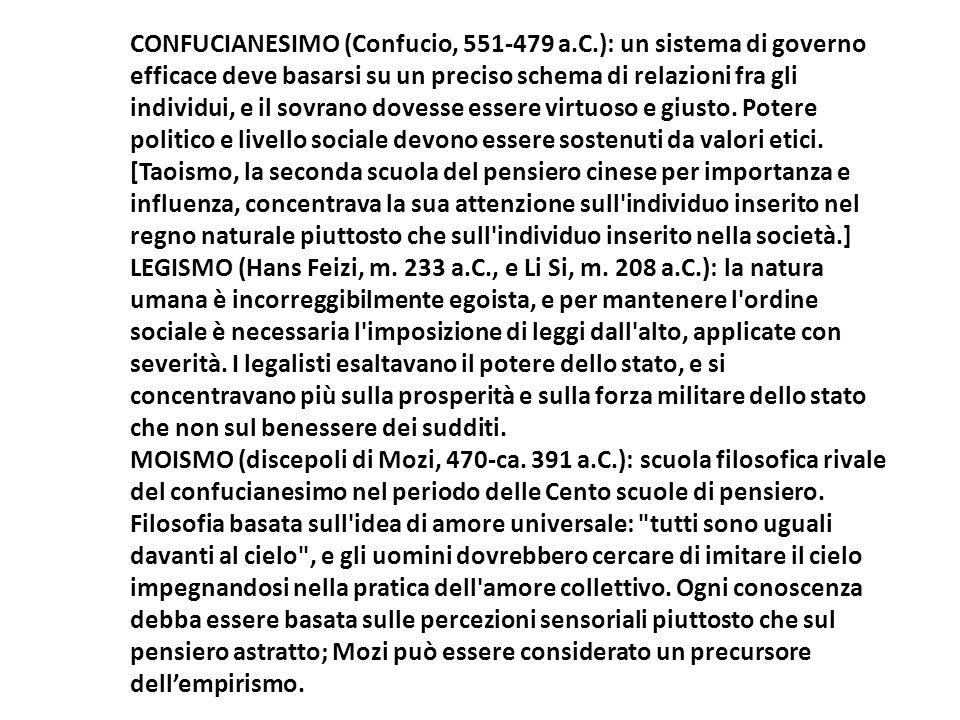 CONFUCIANESIMO (Confucio, 551-479 a. C