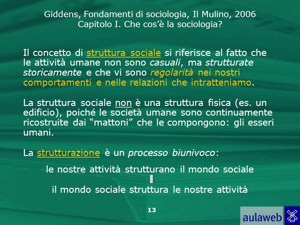 La strutturazione è un processo biunivoco: