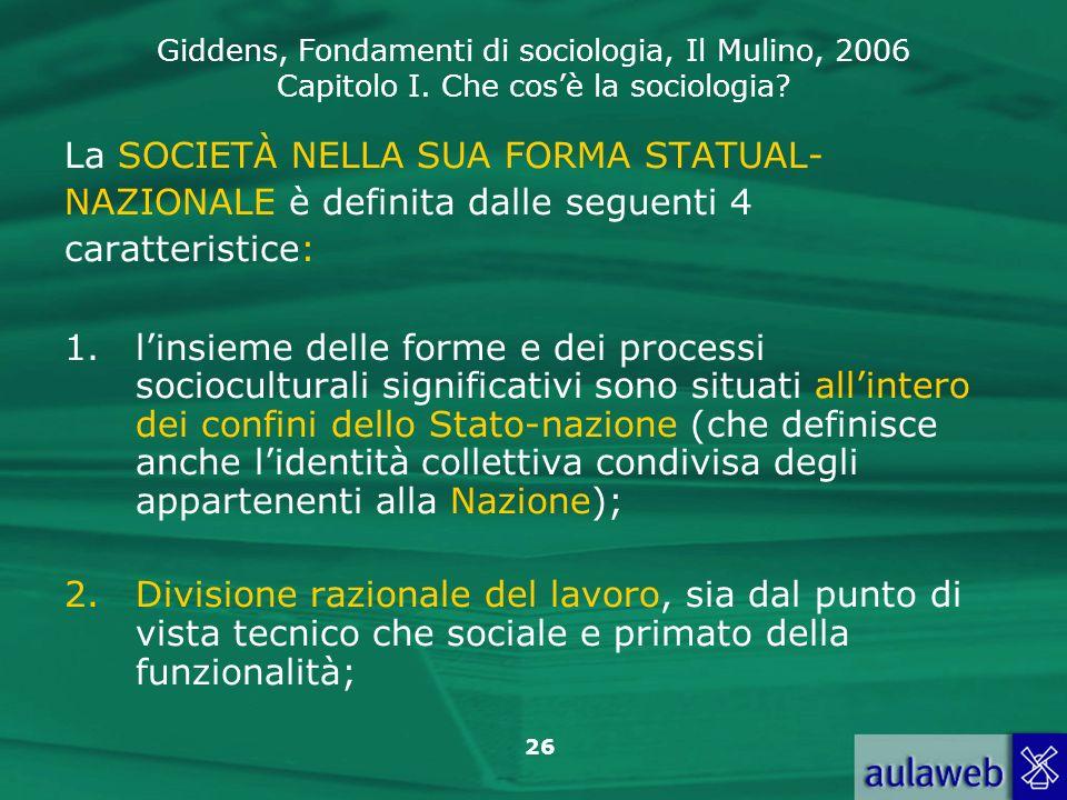 La SOCIETÀ NELLA SUA FORMA STATUAL-