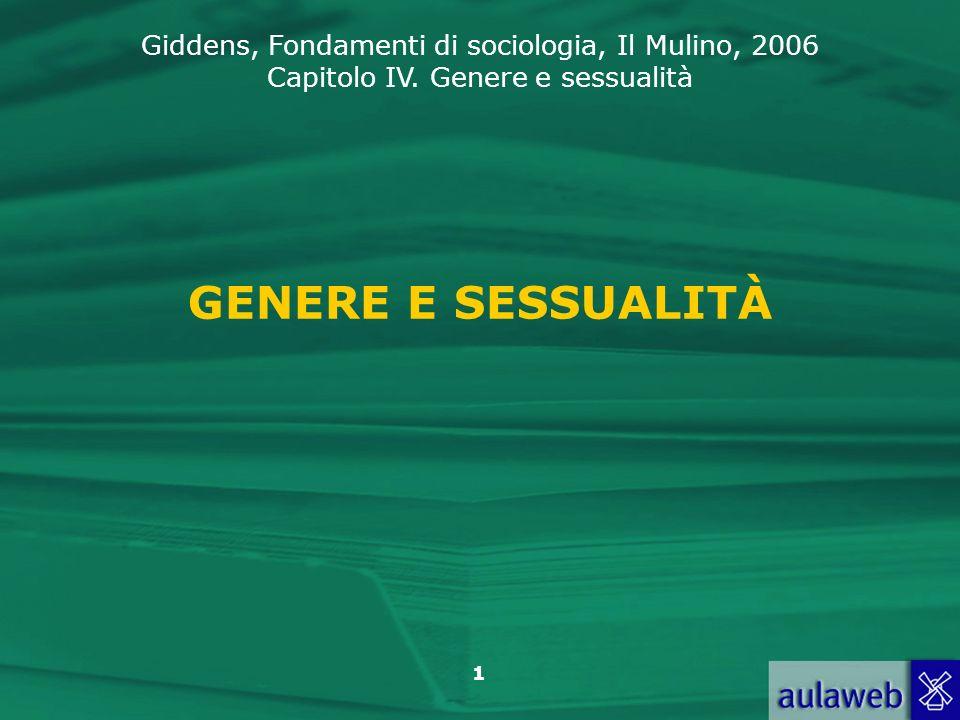 GENERE E SESSUALITÀ
