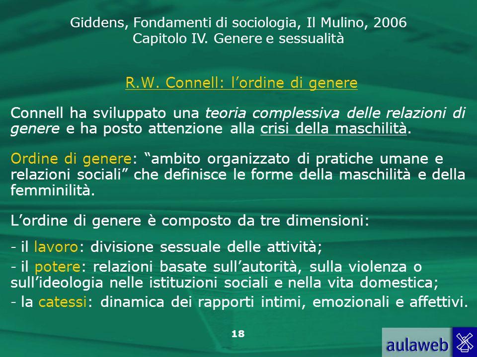 R.W. Connell: l'ordine di genere