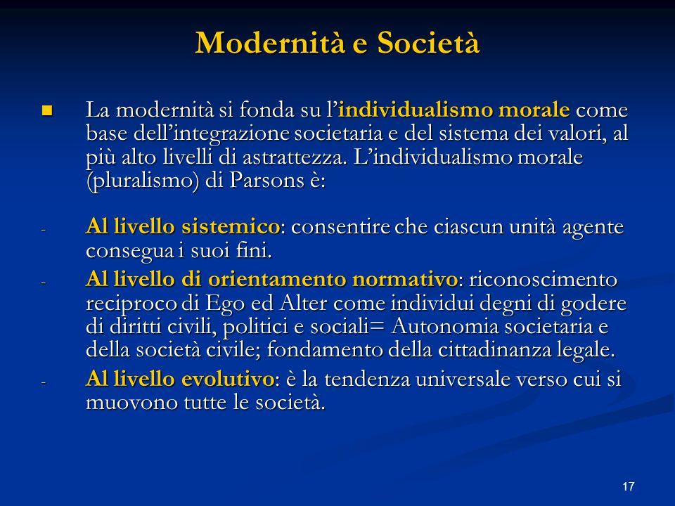 Modernità e Società